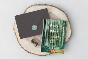 Woodland Wedding Invitation