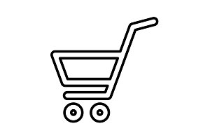 shopping cart (basket) line icon