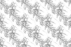 Vector callas seamless pattern