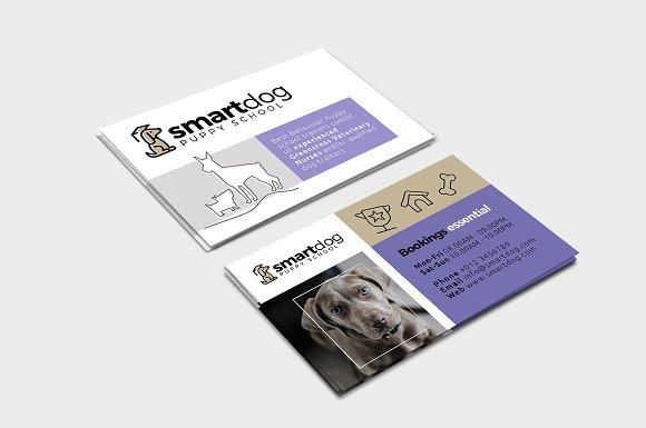 Puppy School Business Card Template Business Card Templates