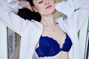 fabulous woman in beautiful underwea