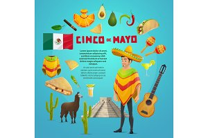 Cinco de Mayo mexican fiesta party greeting card