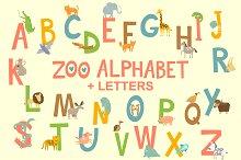 Zoo English Alphabet with animals+