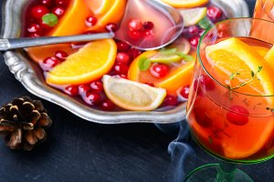 Mulled wine drink