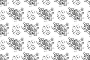 Vector chrysanthemum pattern