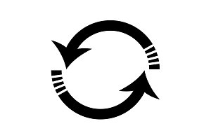 Rotation arrows icon vector