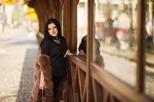 gorgeous sensual woman in fur