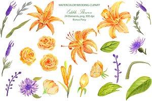 Wedding Orange Edible Flowers