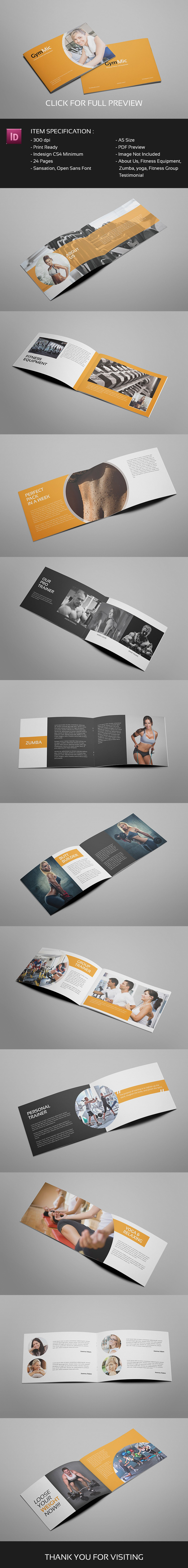Gymmic - A5 Fitness and Gym Brochure