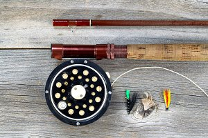 Antique Fly Reel and Rod