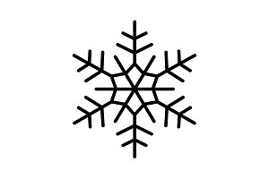 Snowflake flat icon. vector