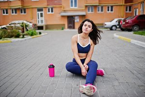 woman doing exercises outdoor