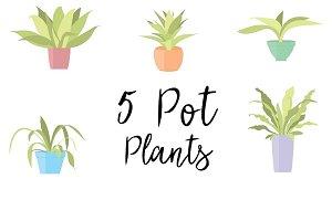 Pot plant vector