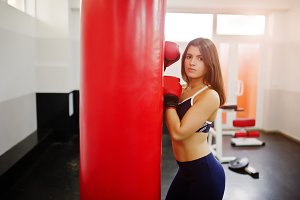 Girl workout at gym