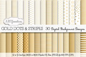 GOLD DOTS & STRIPES
