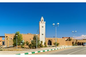 Mosque in Merzouga, a village in the Sahara desert. Morocco