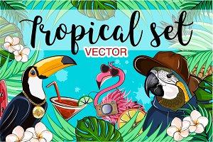 Tropical set (vector).