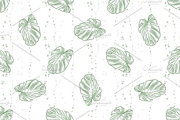 Vector Leaves Seamless Pattern