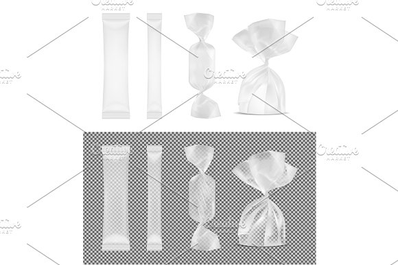 Candy Mockup And Sachet For Sugar