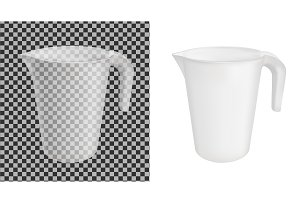 Transparent vector plastic jug