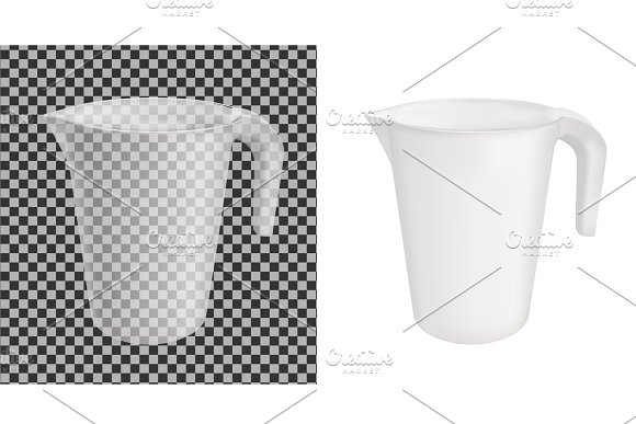 Transparent Vector Plastic Jug