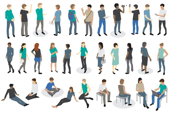 Vector Iso People Collection