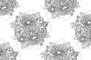 Big bouquet of chrysanthemum