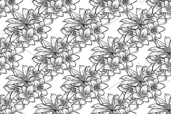 Vector Bluebells Seamless Pattern