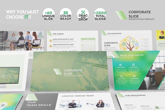 Corporate Slide Template Keynote