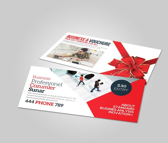 Multiuse Business Gift Card Voucher