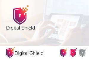 Protection Digital Shield Logo