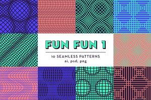 FUN FUN 1 : 10 seamless patterns