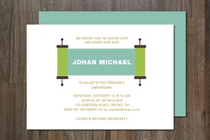 Bar Mitzvah Invitation