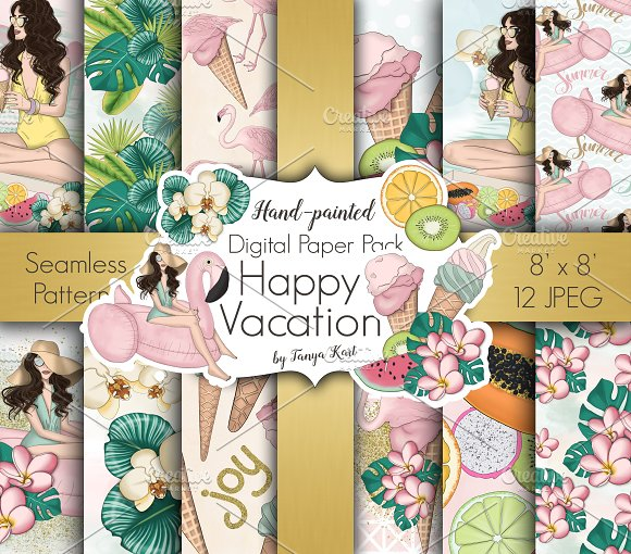Happy Vacation Summer Paper Pack