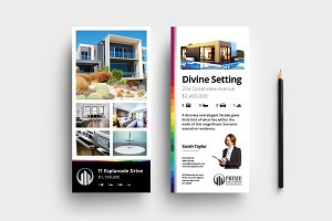Real Estate DL Card Template