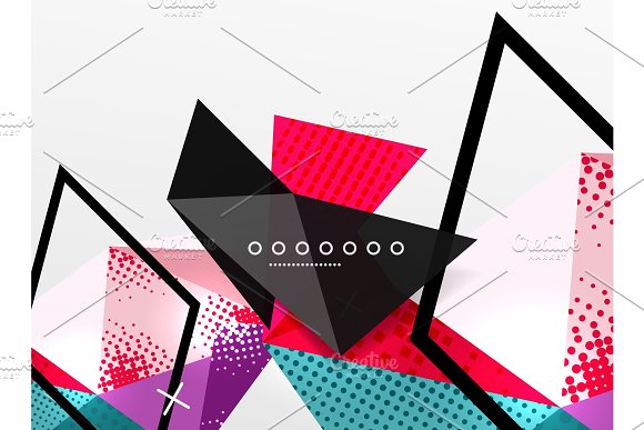 Vector Color Geometric Abstract Composition Triangular And Polygonal Design Elements Digital Background