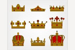 Medieval King Crowns