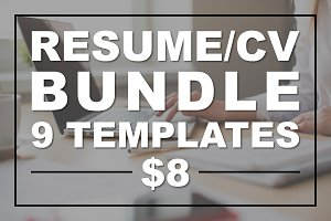 Resume Bundle CV Bundle Modern Clean