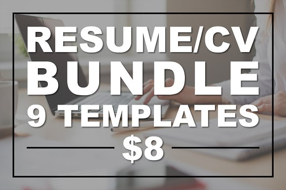 Resume Bundle CV Bundle Modern Clean