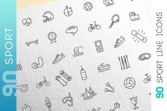 Line Sport Consepts Icons Set