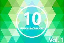 10 Triangle backgrounds. Vol 1