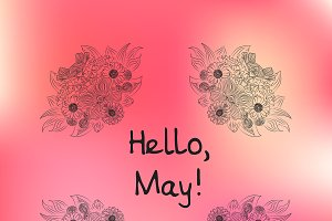 """Hello, May!"" greeting card"