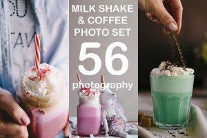 Milk shake, unicorn coffee set