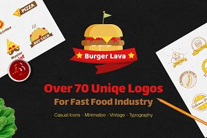 Over 70 Various Logos for Fast Food