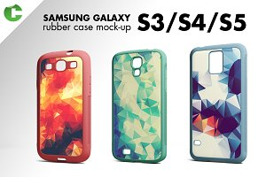Galaxy S3/S4/S5 rubber case mock-up
