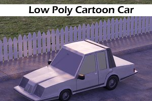 Low Poly Fortnite Cartoon Car