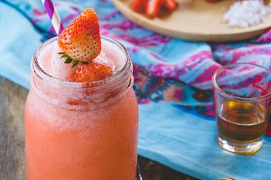 Strawberry fruit sweet smoothie
