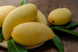 Sweet yellow mango fruit
