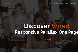 Wired - Responsive Parallax One Page