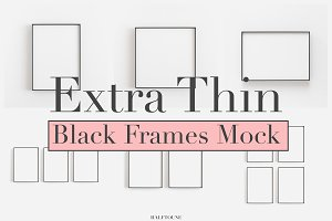 Mockup Frames,Bundle of 6 Thin Frame